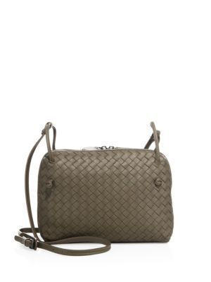 21daf811a5 BOTTEGA VENETA Intrecciato Leather Double-Zip Pillow Bag.  bottegaveneta   bags  shoulder bags  lining  crossbody  suede