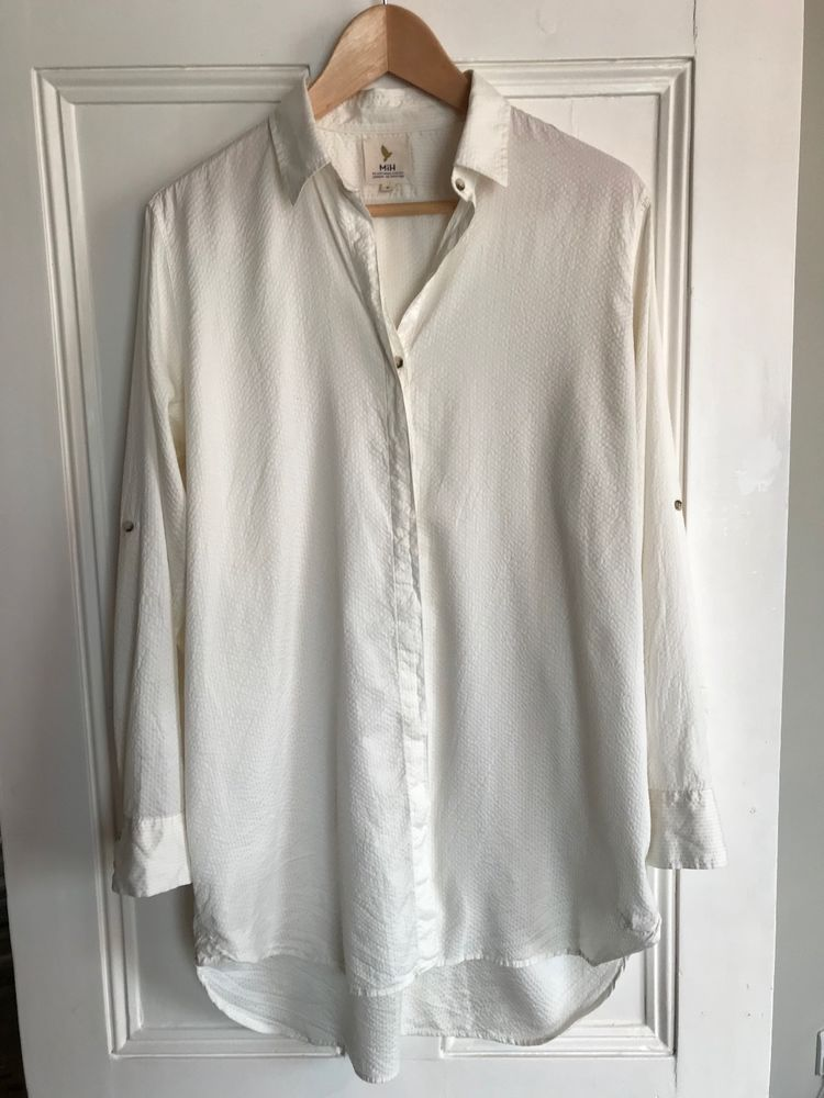 c933d962eb38c6 M.i.h Jeans Oversize shirt in silk/cotton blend seersucker size M #fashion # clothing #shoes #accessories #womensclothing #tops (ebay link)
