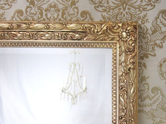 VINTAGE FRAMED MIRRORS For Sale Large Gold By RevivedVintage 22400