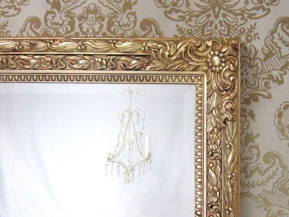 VINTAGE FRAMED MIRRORS For Sale Large Gold By RevivedVintage 22400