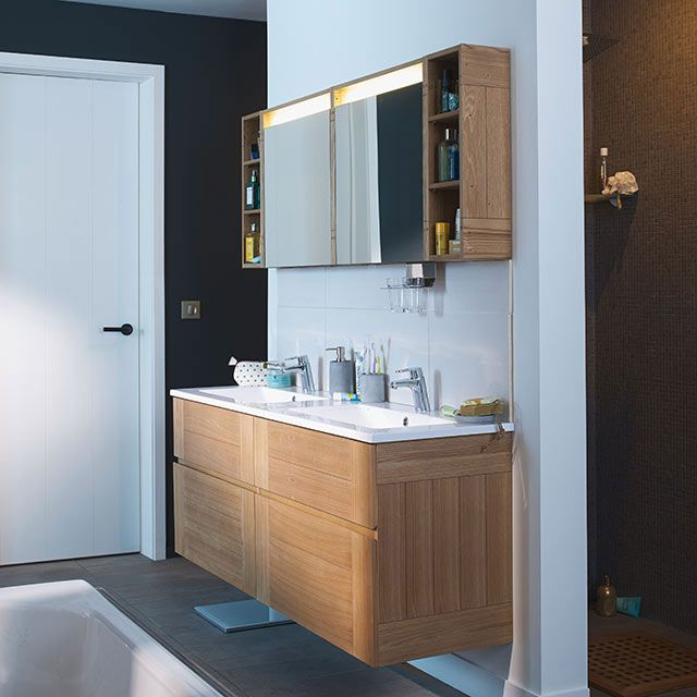 Meuble de salle de bains frªne Essential II160 cm prix Meuble de