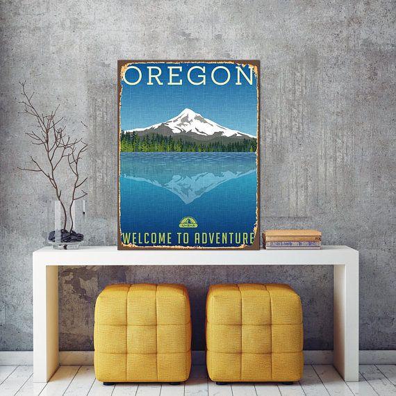 Oregon Welcome Sign Oregon Metal Sign Metal Wall Decor Print Etsy Metal Wall Decor Metal Signs Welcome Sign