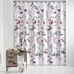 Mainstay Birds Bathroom Accessories Shower Curtain Set At Walmart This Is What Emily Picked Out To Decorate Our Bird Shower Curtain Curtains Shower Curtain