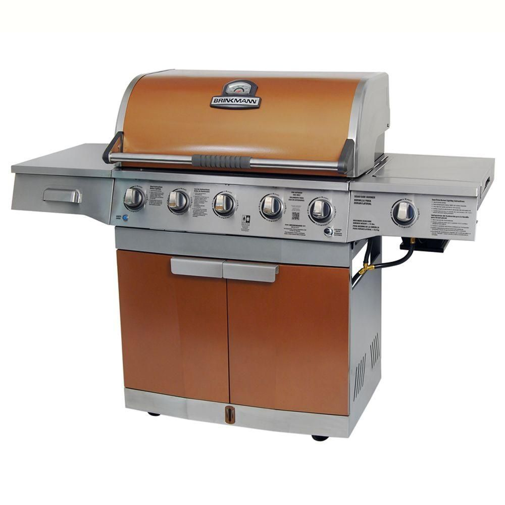 Brinkmann Medallion 5 Burner Propane Gas Grill In Copper 810 4580 SB