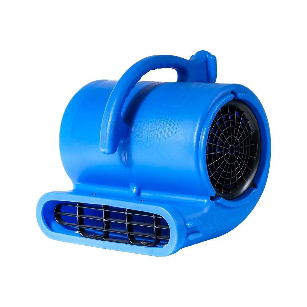 B Air 1 3 Hp 2530 Cfm Air Mover Carpet Dryer Floor Fan For Plumbers Janitorial And Water Damage Restoration Blue