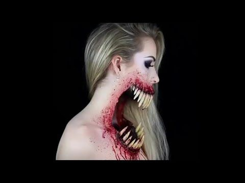 scary halloween makeup tutorials from a creepy smile to a