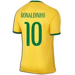 Nueva Camiseta de RONALDINHO del Brasil Primera por Mundo 2014 ... 8a7baa23ddb2b