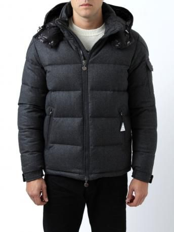 Moncler Down Jacket - Moncler Montgenevre - anthracite gray (color code  950) - wool 8dc2f1431927
