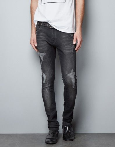 c688b2eb RIPPED AND FADED JEANS - Jeans - Man - ZARA United States | My ...