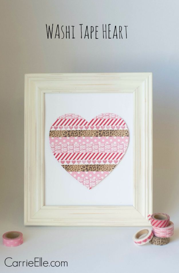 DIY Valentine Decor Ideas Washi Tape