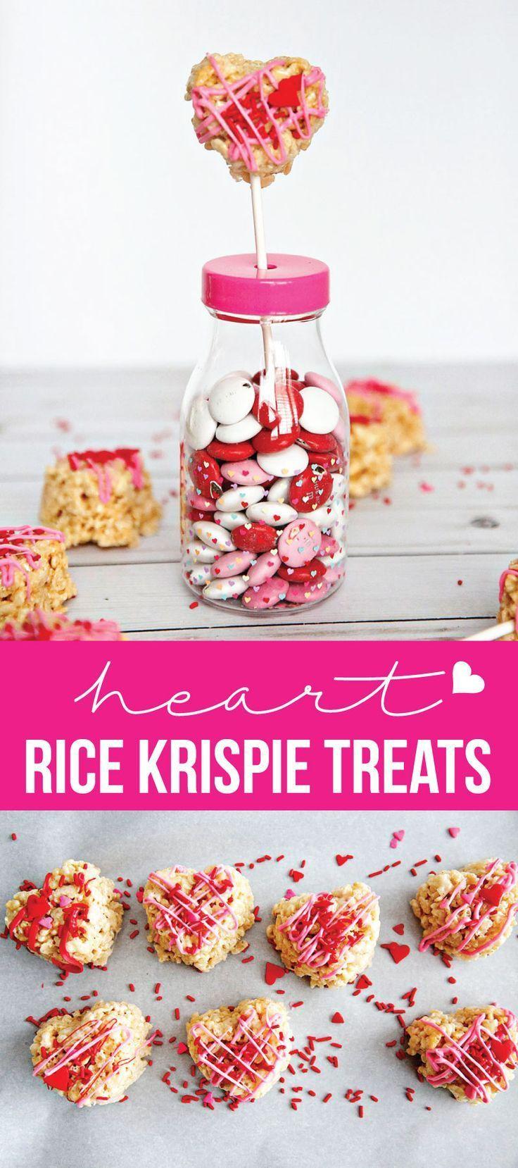 Heart Rice Krispie Treats   Recipe   Rice krispie treats ...