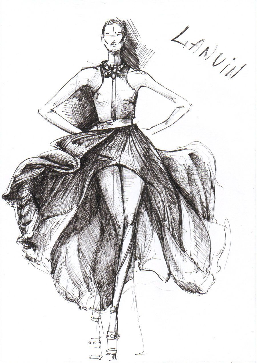 Free Fashion Design Sketches | Dropship Fashion | Ilustrando ...