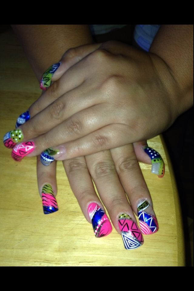 Curved Nails like the curved nails but not the design - Curved Nails Like The Curved Nails But Not The Design AMaNdA's