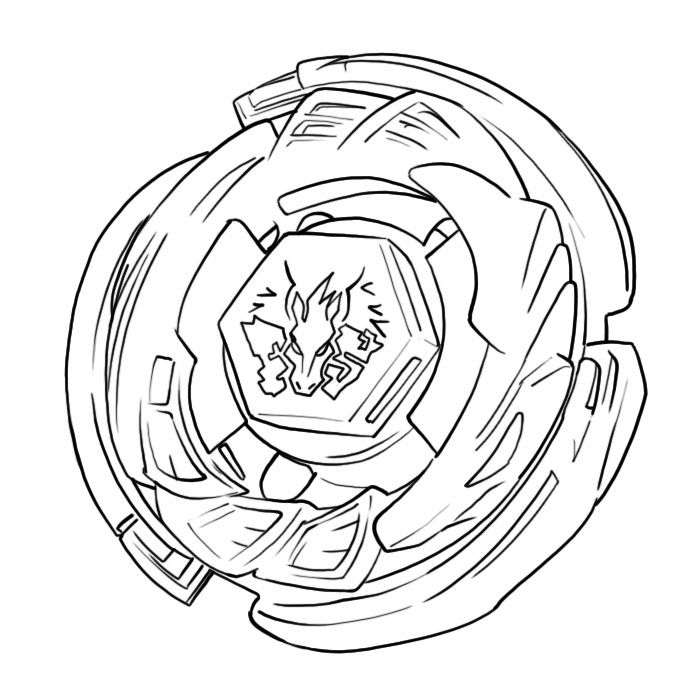 Beyblade Coloring Pages Galaxy Pegasus