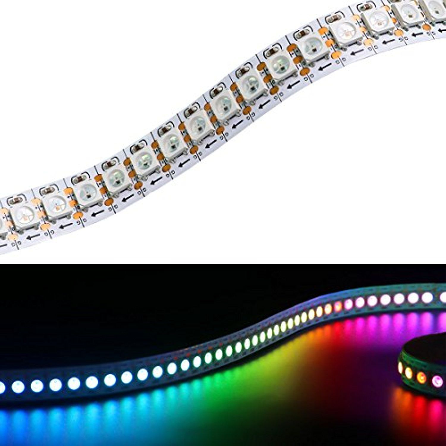 WIXURE WS2812B LED Strip Light Individually Addressable Programmable ...