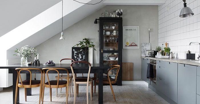Grey Attic Apartment in Sweden - NordicDesign