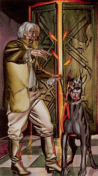 Ten of Wands - Initiatory Tarot of the Golden Dawn by Giordano Berti, Patrizio Evangelisti