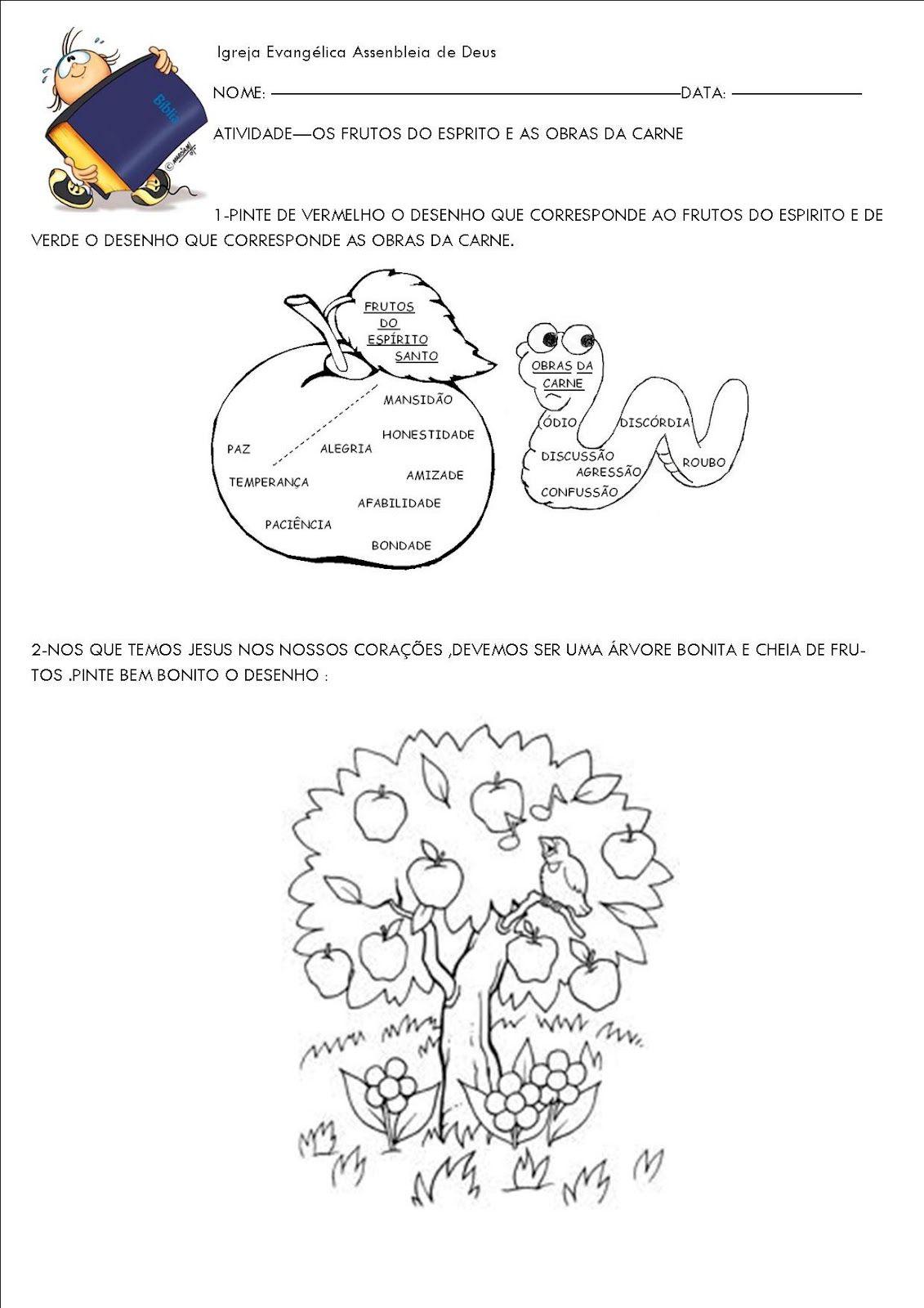 Favoritos ♥Algo Tão Doce Educação♥: EBD Infantil-Aula Fruto do Espírito  BG37