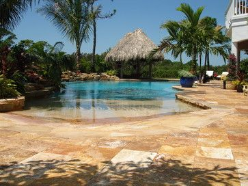 swimming pools that looks like beach | Beach Entry Pools Design ...