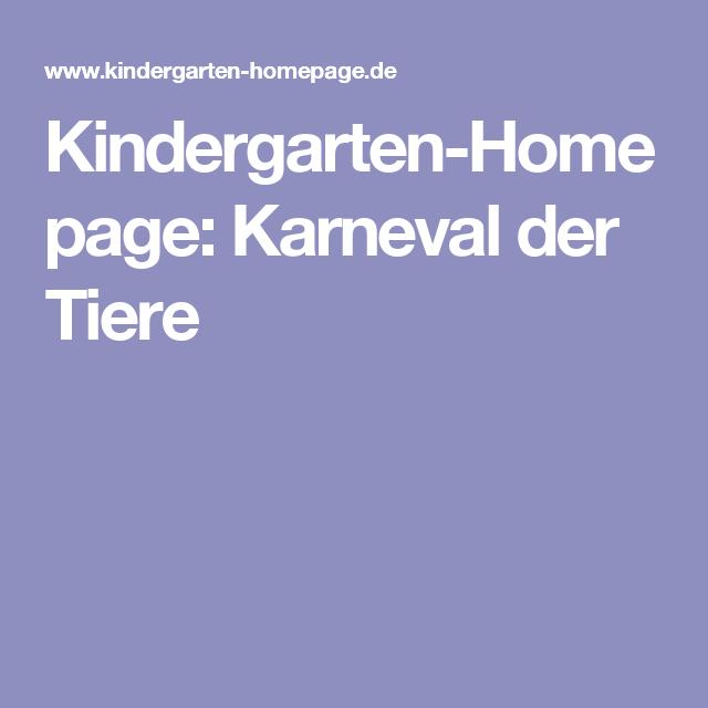 Kindergarten Homepage Karneval Der Tiere Klanggeschichten