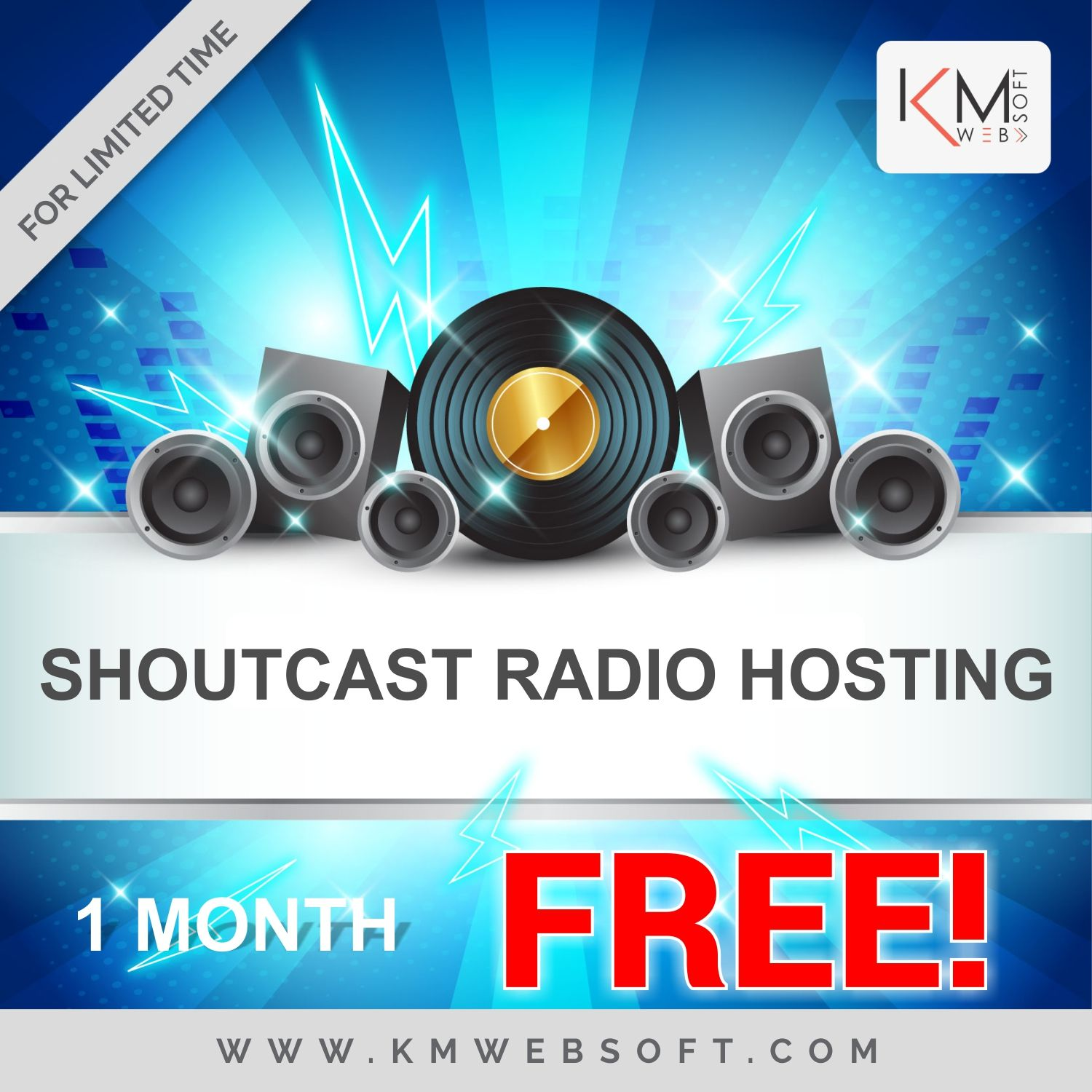 Shoutcast / Icecast with Unlimited Autodj, Disc Space, Start
