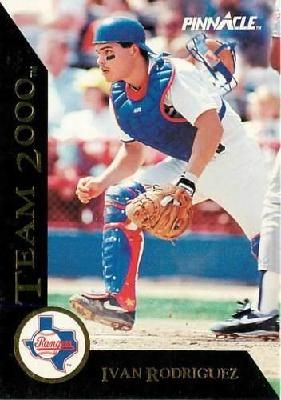 1992 Pinnacle Team 2000 Ivan Rodriguez 8 Insert Baseball Card Texas