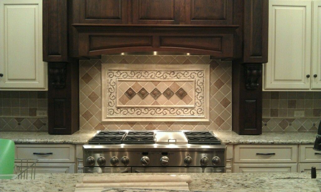 Kitchen hood with backsplash jw construction design services kitchen makeover ideas - Backsplash designs travertine ...