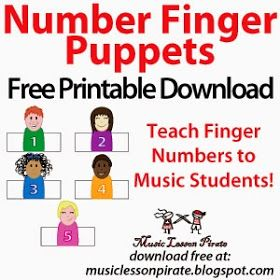 Number Finger Puppets – Free Printable to Teach Finger Numbers to Music Students!