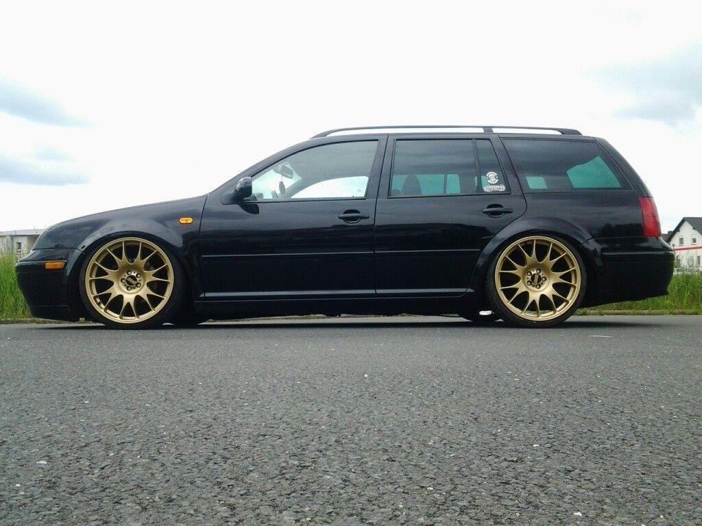 Gouden Velgen Bij Zwarte Lak Jetta Wagon Vw Wagon