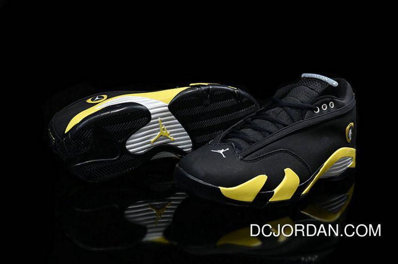 buy popular 56446 46967 2019 的 Discount Air Jordan 14 Low Thunder Black Vibrant ...