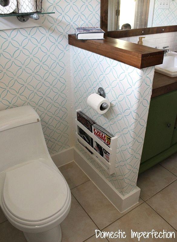 magazine rack diy bathroom