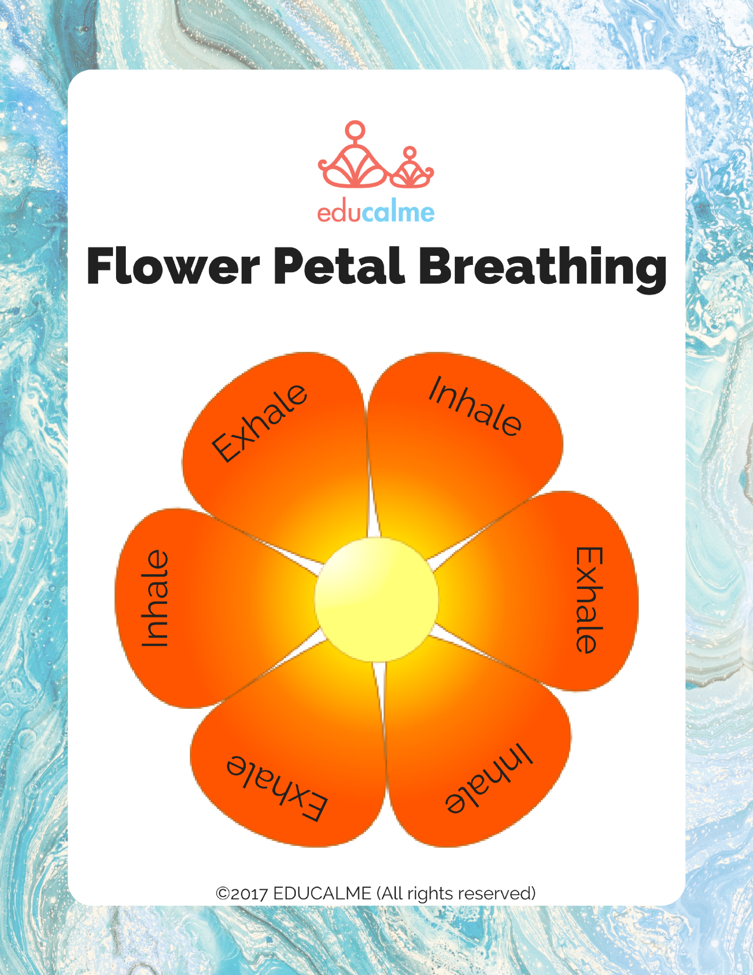 Free Flower Petal Breathing Poster In English And French