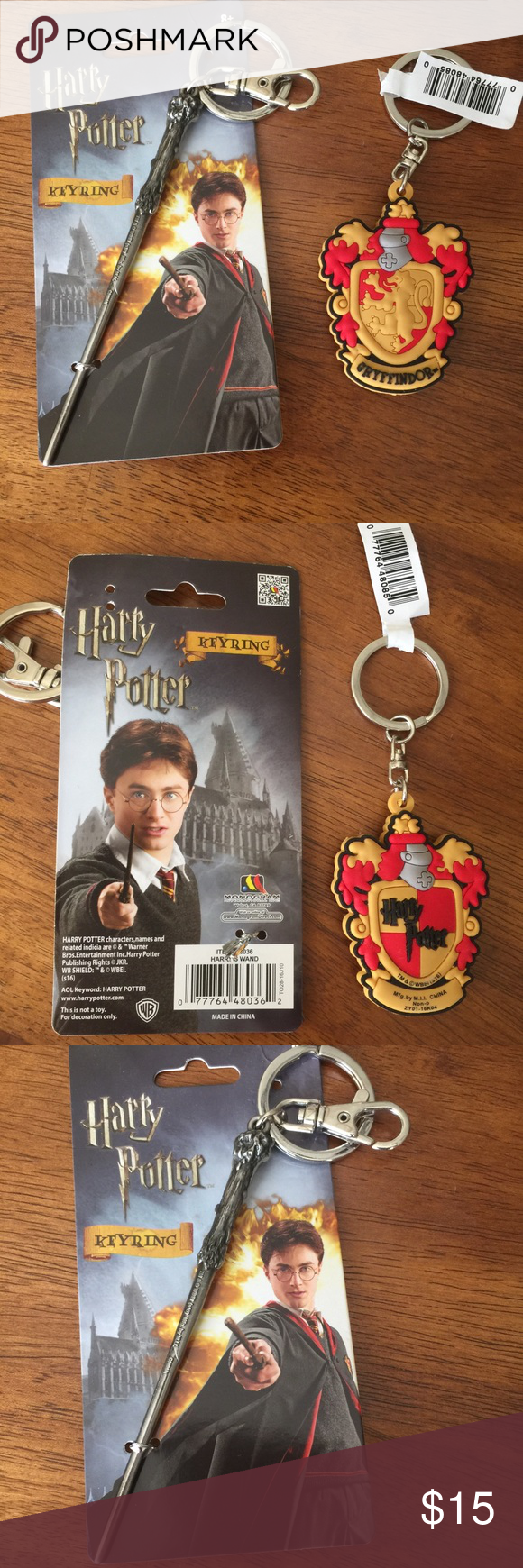 Real Book Page Harry Potter Character Keychain