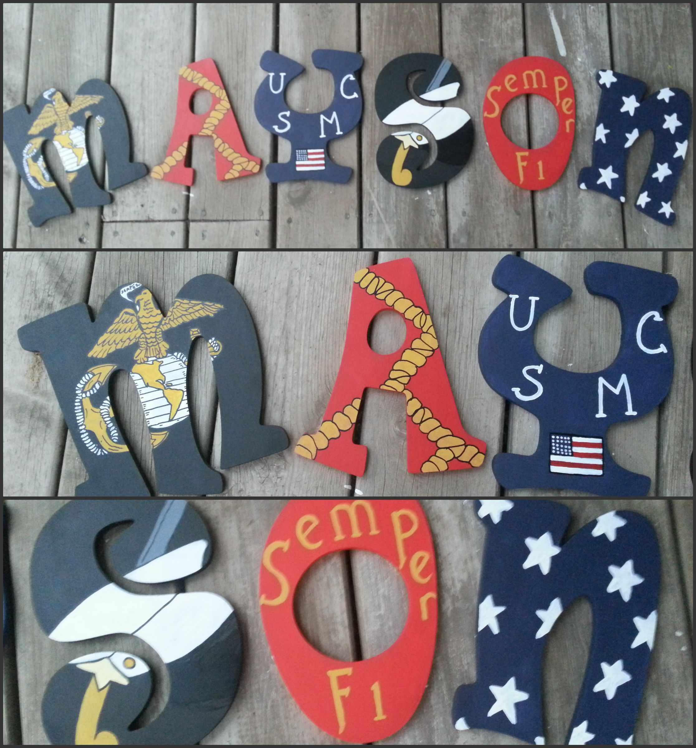 United States Marine Corps themed hand painted letters  Check out  www facebook comUnited States Marine Corps themed hand painted letters  Check out  . Marine Corps Themed Room. Home Design Ideas