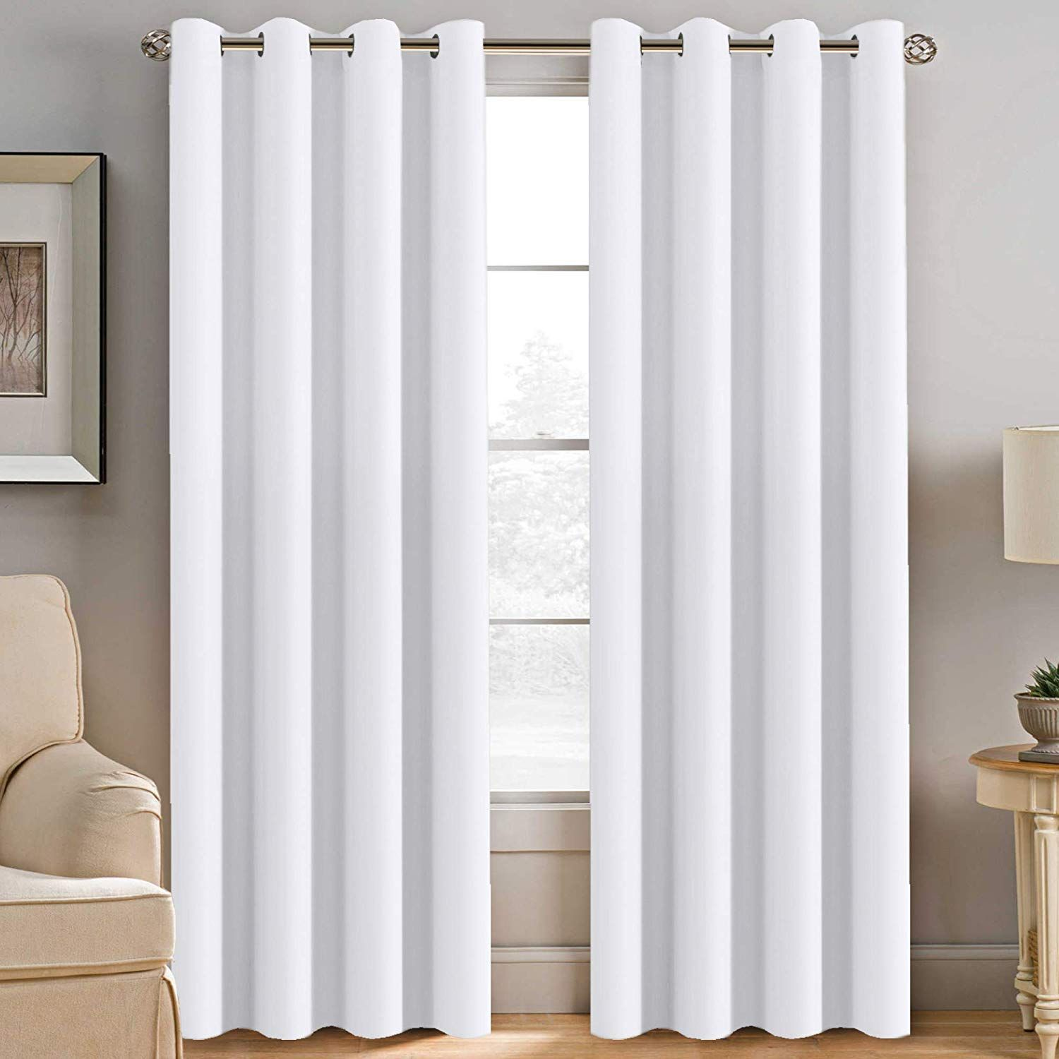 6 Best White Blackout Curtains Reviews Country Curtains In 2020 White Curtains White Blackout Curtains Insulated Window Treatments