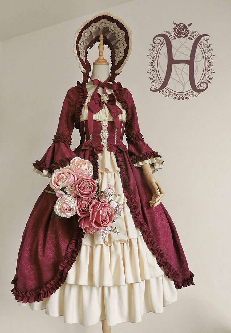 Henrietta -Antique Victorian Doll- Vintage Classic Lolita OP Dress (Long Version) #victoriandolls