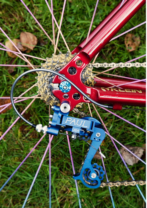 Paul/Klein and marwi ti anodized spokes