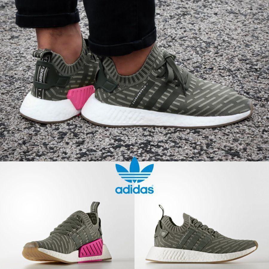 pretty nice e531c d590a Adidas Original NMD R2 PK Khaki Pink Sneakers BY9953 Japan ...