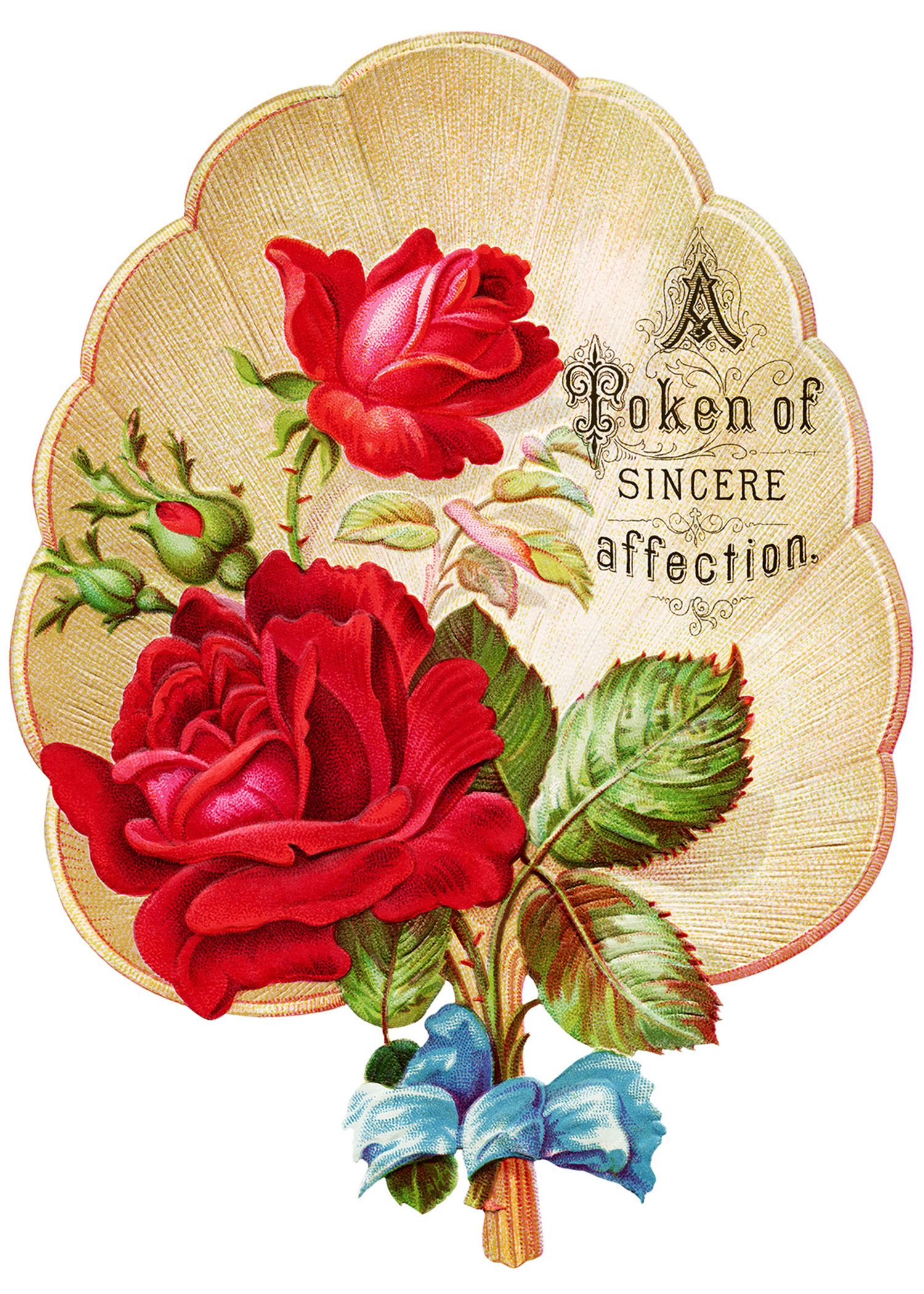 free Victorian Roses art | victorian rose clipart, vintage clip ...