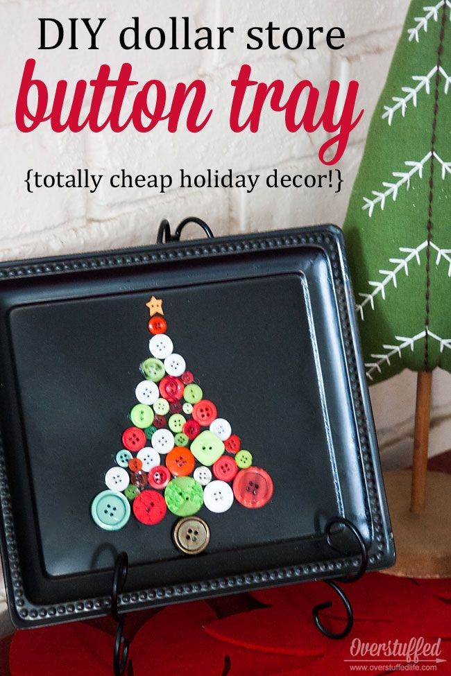 DIY Dollar Tree Christmas Tray #dollarstorechristmascrafts