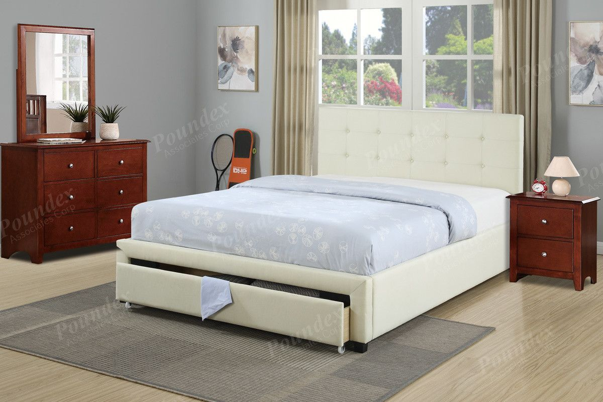 Full Bed Bed With Drawers Upholstered Bed Frame Bedroom