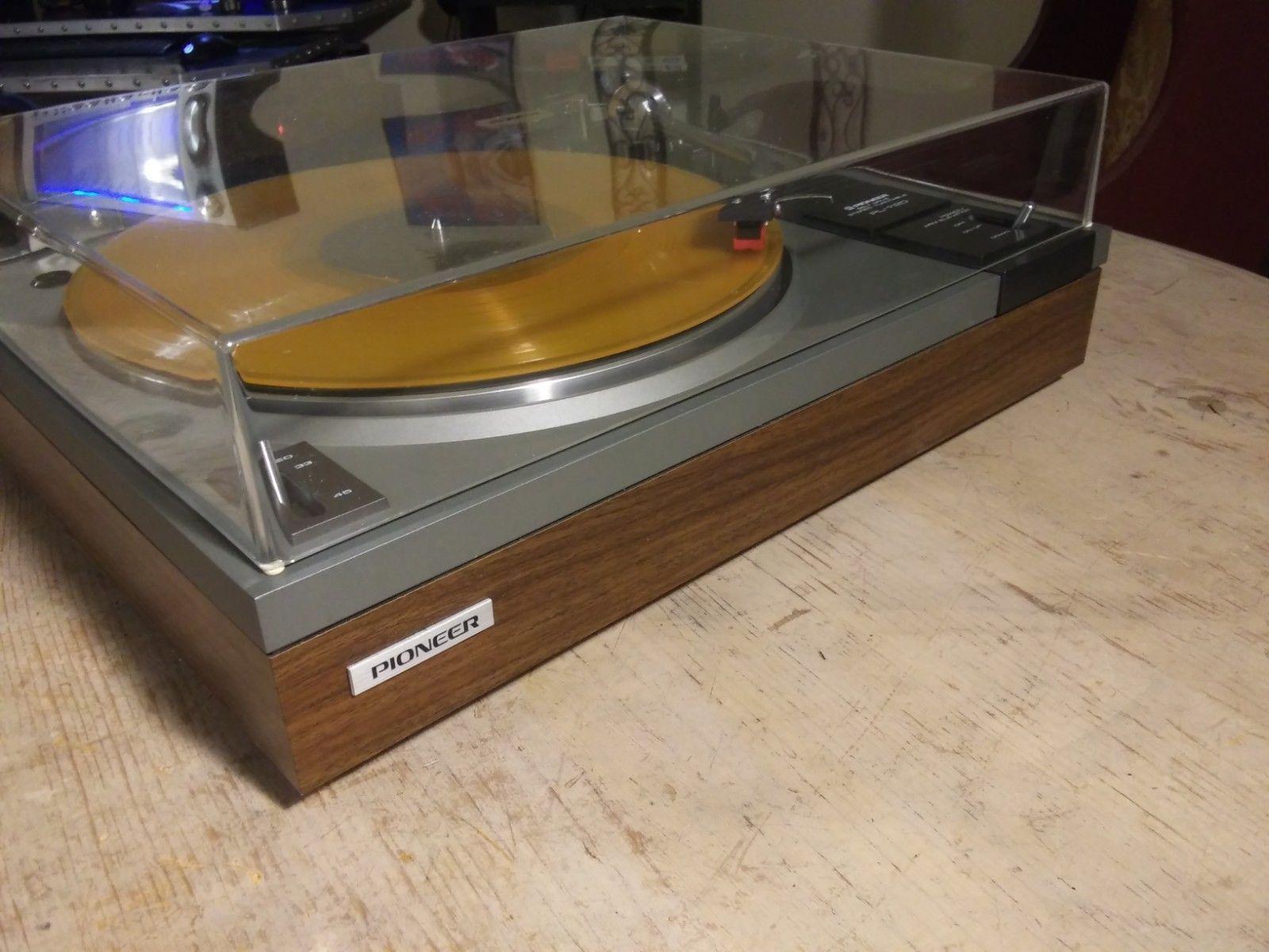 Vintage Pioneer Turntable Vinyl Record Player Sansui Cartridge Works Great Ebay Turn Table Vinyl Vinyl Record Player Turntable