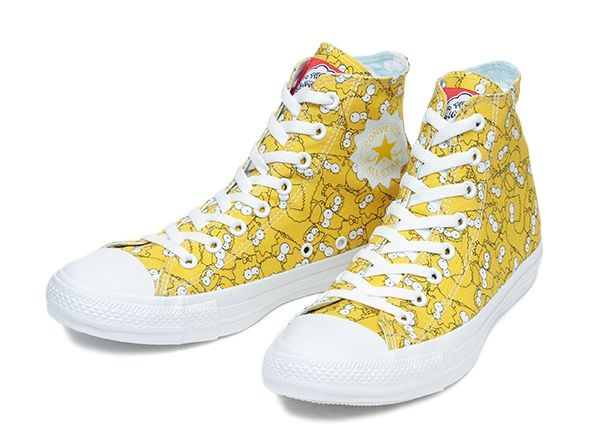 e8e9e7beaf3740 Converse All Star Chuck Taylor The Simpsons 2014 Limited Model Yellow JAPAN