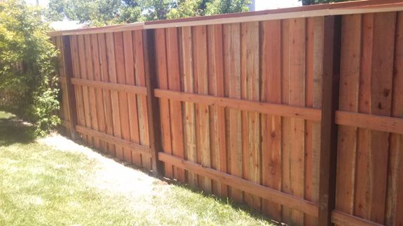 Board On Board 3 Rails With Cap Wood Fence Fence Construction Fence Panels