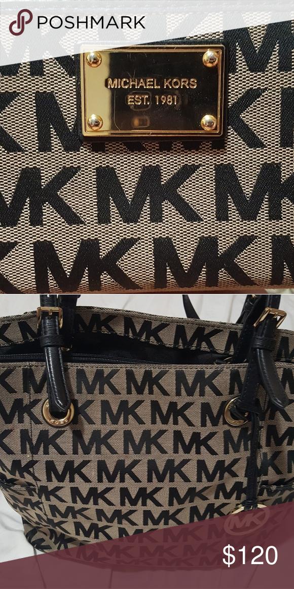 f76fb236b23 Michael Kors handbag with matching wallet Michael kors black handbag with matching  wallet. Michael Kors Bags Shoulder Bags