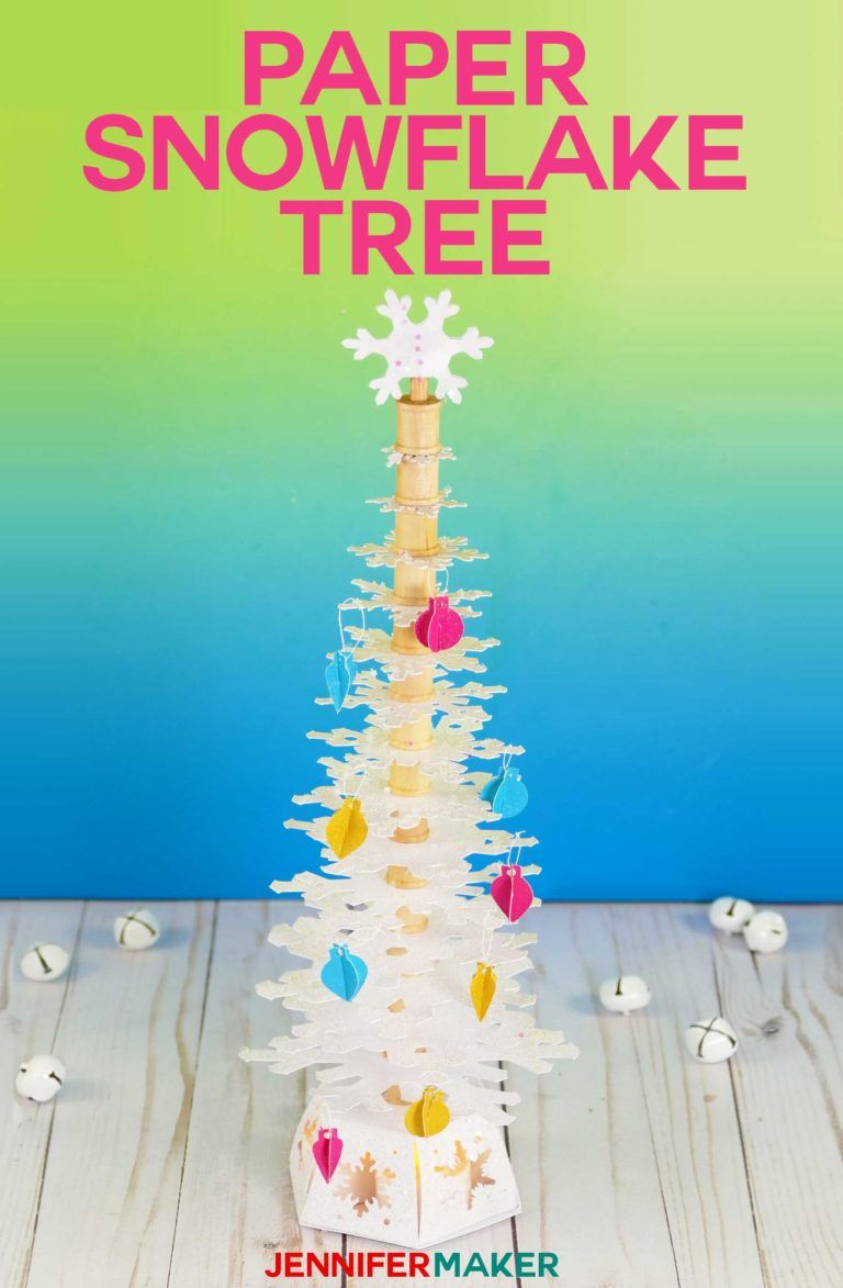 Make A Paper Snowflake Christmas Tree With This Free Pattern And Tutorial Papercraft Svgcutfile Cricut Paper Snowflakes Diy Christmas Tree Christmas Crafts
