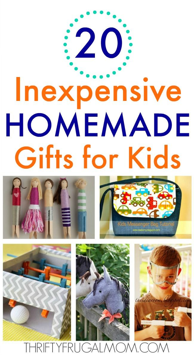20 Inexpensive Homemade Gifts for Kids -   19 diy Gifts for children ideas