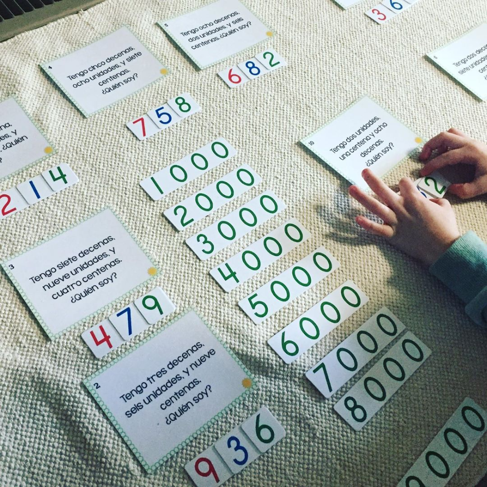 Maria On Instagram So Excited To Have Found This Genius Material From Schoolencasa These Are Place Value Task Cards In Spanish But They Re Who I Am Car In 2020