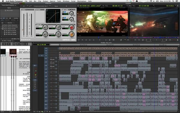 Check Out Video Editing Timelines From Several Hollywood Blockbusters Video Editing Filmmaking Video
