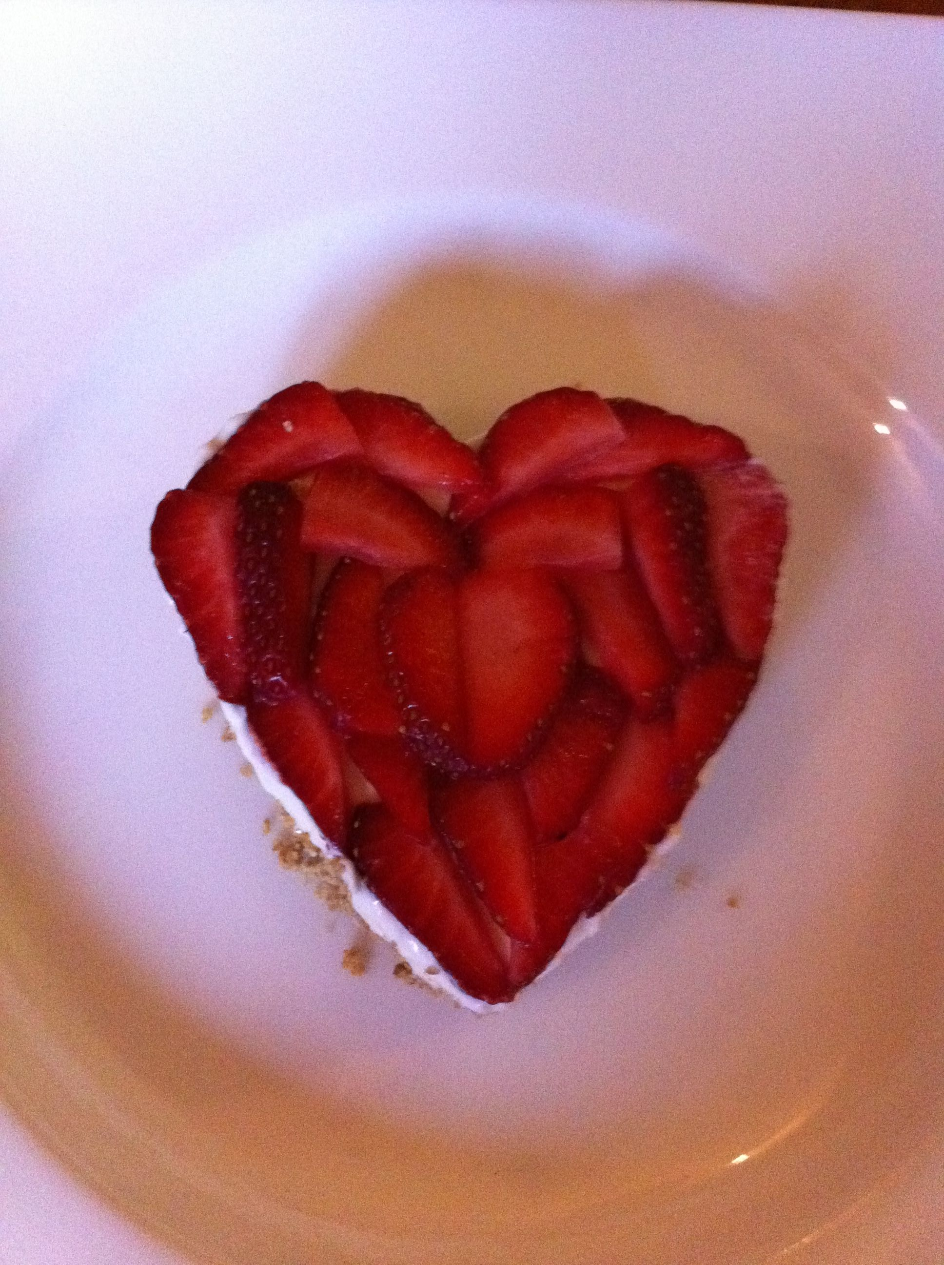 Head Chef Testing Out Valentine Menu At Winder Hall Yummy Strawberry Heart Cheesecake Strawberry Hearts Strawberry Food